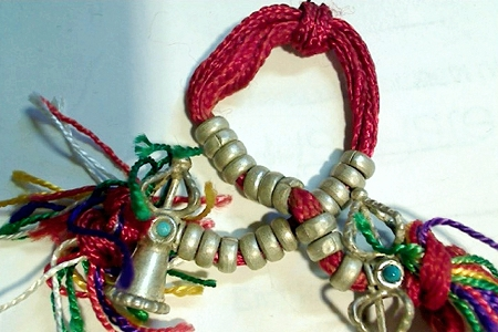 Colorful White Metal Mala Counter