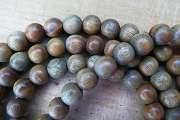 Fragrant Sandalwood Mala Beads in Sari Pouch