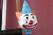 Second Quality Hand Painted Papier Mâché Clown Maraca