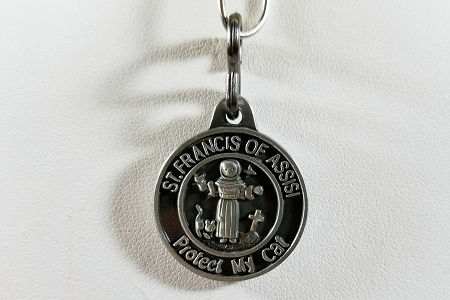 St Francis of Assisi Protect My Cat Medal