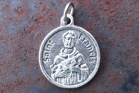 Round St Francis of Assisi Medal