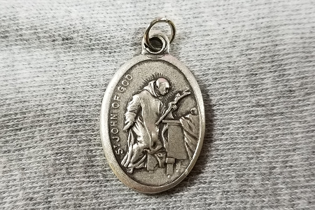 St John of God Medal - Patron Saint of Booksellers, Hospitals and Nurses