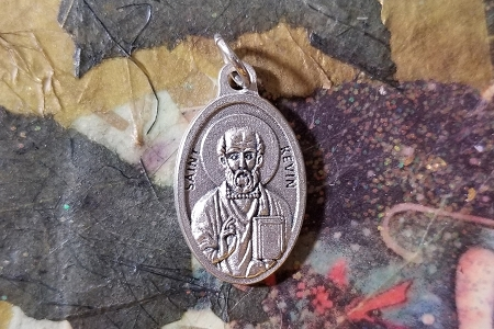 St Kevin Medal - Patron Saint of Crows, Ravens and Blackbirds