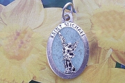 Glow In the Dark St Michael Medal - Patron of the Military and First Responders and of Artists