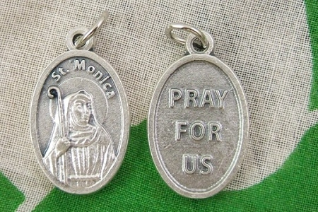 St Monica Medal - Patron Saint of Alcoholics