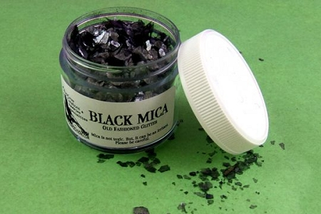BLACK Mica Glitter Flakes in 2 Sizes