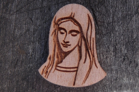 Burnished Wooden Mary Motif