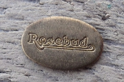 Raw Brass Stamped Motif Rosebud