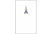 The Eiffel Tower Letter Press Fine Note Card