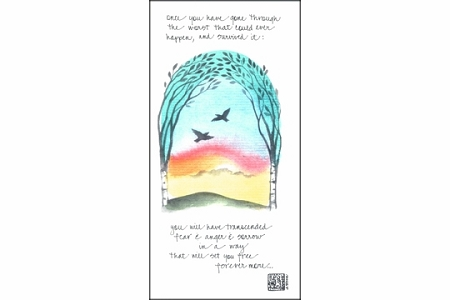 Once you have gone through... Hand Painted Note Card