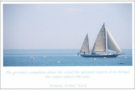 Lovely Ship a Sailing in Provincetown - Pessimist vs Optimist vs Realist