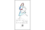 Lady Faith (what shall i carry...) Hand Painted Note Card