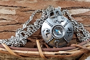 Striking Vintage Compass Necklace