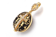 Elegant Faberge-Style Egg Necklace with Secret Opening
