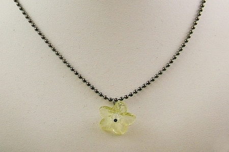 Tanner's Yellow Flower with Fabric Gift Bag - SilverCrow Exclusive Necklace
