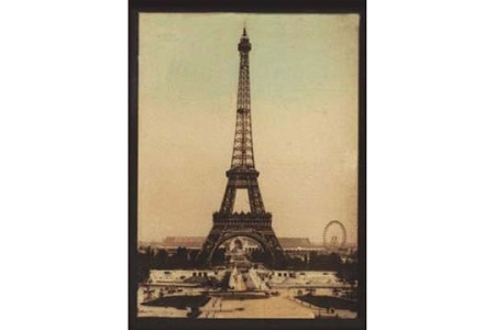 Art Postcard: LENTICULAR (3D) - Eiffel Tower Construction in 3D