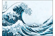 Art Postcard - 3D Lenticular - Hokusai Katsushika (The Great Wave)
