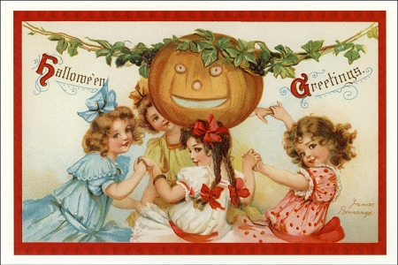 Fine Art Postcard - Halloween Party