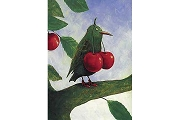 Art Postcard: Pieper by Rudi Hurzlmeier (Crow with Cherries)