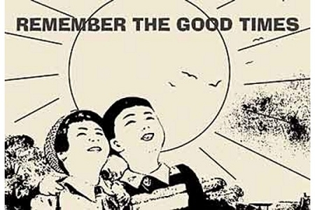 Remember the Good Times Wooden Art Postcard