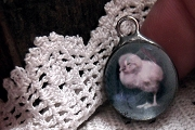 Old Fashioned Artist Made Chick Charm