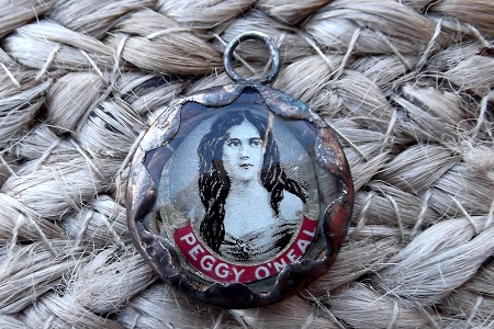 Signed Hand Made Vintage Peggy O'Neal Cigar Band Pendant