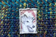Handmade Silver Senior Greyhound Collage Pendant
