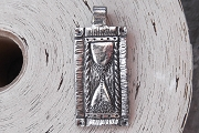 Silvery Hourglass Pendant or Charm