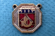 Vintage Enameled Paris Coat of Arms Charm or Pendant