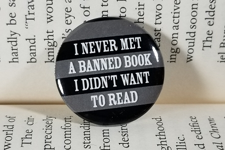 ...Banned Book... Pin Back Button