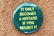 Button Pin - It Only Becomes A Mistake...