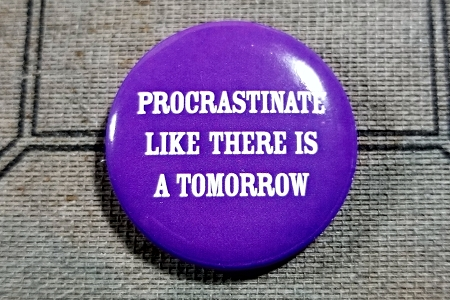 Procrastinate Like There Is A Tomorrow Pinback Button