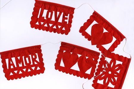 Hand Cut Mini Papel Picado - Amor (Love)