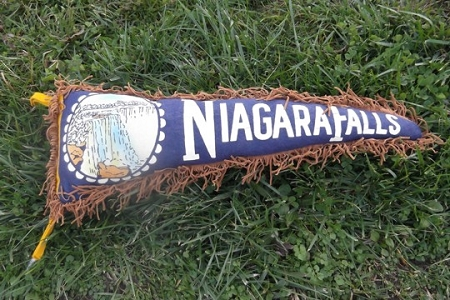 Niagara Falls Kitschy Vintage Pennant Pillow Made by SilverCrow
