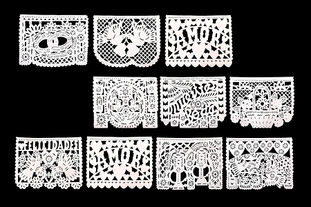 Intricately Cut Papel Picado for Your Wedding in 2 Sizes