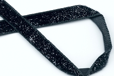 6 Feet of Sparkling Black Ribbon