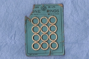 Vintage Card of a Dozen Bone Rings
