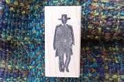 Clint Eastwood Silhouette Rubber Stamp