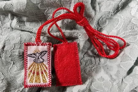 Holy Spirit Embroidered Scapular