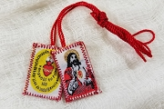 Sacred Heart of Jesus and Detente Embroidered Scapular