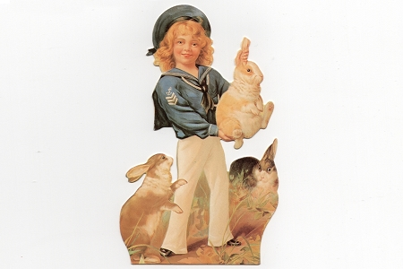 Die Cut Sailor Boy and His Bunnies