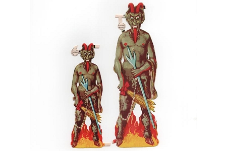 Vintage Krampus Scrap in 2 Sizes - Die Cut and Embossed