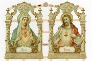 Sacred Heart of Maria (Blessed Mother) & Jesus Reproduction Victorian Scraps