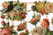 Rose Bouquet Reproduction Victorian Chromolithograph Embossed Die-Cut Reliefs (Scraps)