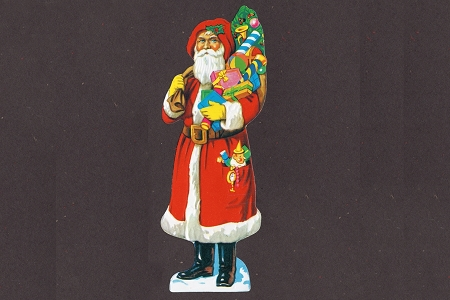 Small Santa Claus DieCut and Embossed Scrap