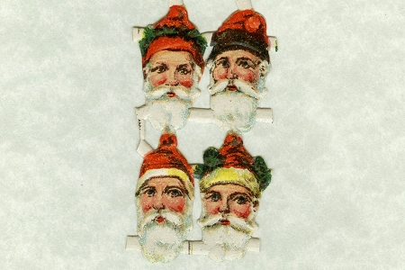 VINTAGE Sweet Santa Scraps (Set of 8)