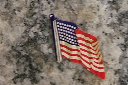 Vintage Small American Flags Gummed Die Cut Dennison Seals - Package of 5