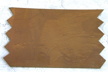 Rusted Tin Banner with Pointed Edges