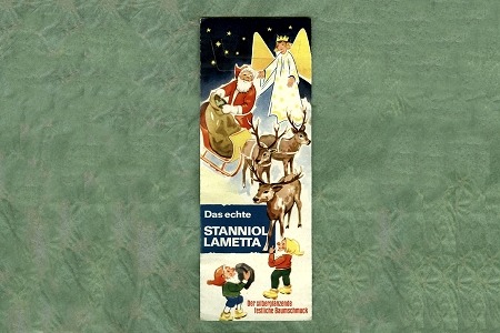 Vintage Lametta Folder featuring Santa, Angel, Deer and Elves - FOLDER ONLY