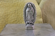 Small Pewter Italian Our Lady of Guadalupe Statue